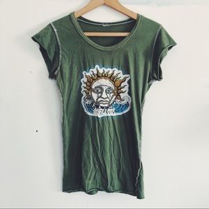 Vintage Sublime Band T-Shirt Green - Crying Sun